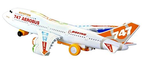 Toyshine Airbus Toy, Musical Airbus Aeroplane for kids, White Red