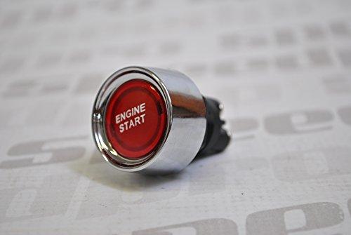 Speedpro - Bouton de démarrage à poussoir lumineux rouge « Engine Start » 12 V