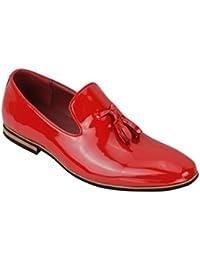 Xposed–piel sintética Slip On Suede Loafers Smart Casual zapatos de conducción borla diseño tamaño 6A 12