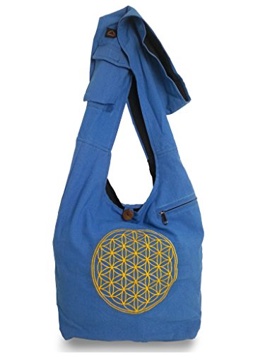 kailash , Borsa Messenger , lavanda (viola) - NB 100 blu chiaro