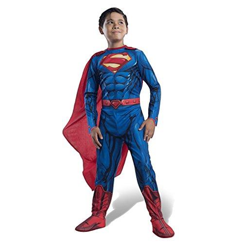 Superman Overall Kinder Kostüm mit Galoschen Gürtel Cape für kleine Helden - (Gürtel Kind Superman)