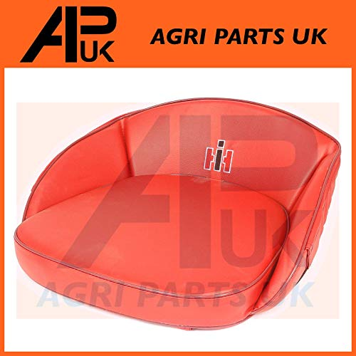 APUK Old Case International Harvester Farmall Tractor Seat Pan Cushion RED  IH Logo