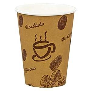 "400 Stk. Kaffeebecher Premium, ""Coffee to go"", Pappe beschichtet, 8oz., 200 ml / Hochwertiger hitzebeständiger ""Coffee to go"" Becher bedruckt mit Motiv ""HOT BEANS"". Aus 100% recyclingfähiger Pappe hergestellt."