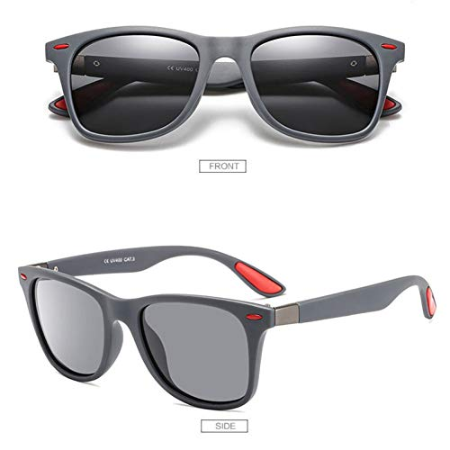 GJYANJING Sonnenbrille Klassische Polarisierte Sonnenbrille Männer Frauen Fahren Square Frame Sonnenbrille Männliche Brille Uv400 Sonnenbrille