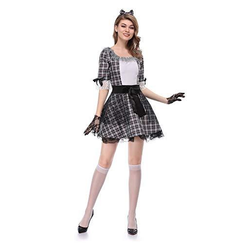 ERJQ Halloween Kleid, Vampire Cosplay Frauen Halloween Kostüm für Mädchen Hochzeit Ghost Bride Flower Female Witch Kostüm Voodoo - Voodoo Doll Kostüm