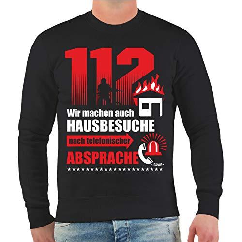 Männer und Herren Pullover Feuerwehr 112 Wir Machen auch Hausbesuche nach telefonischer Absprache Größe S - 10XL