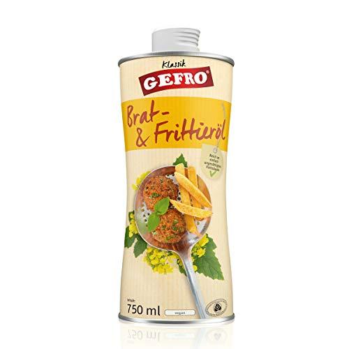 GEFRO Bratöl und Frittieröl mildes Rapsöl für mehrfaches hohes Erhitzen (750ml)