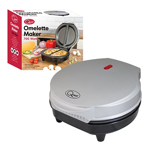 Quest Non-Stick Cool Touch Dual Omelette Maker, 700 W