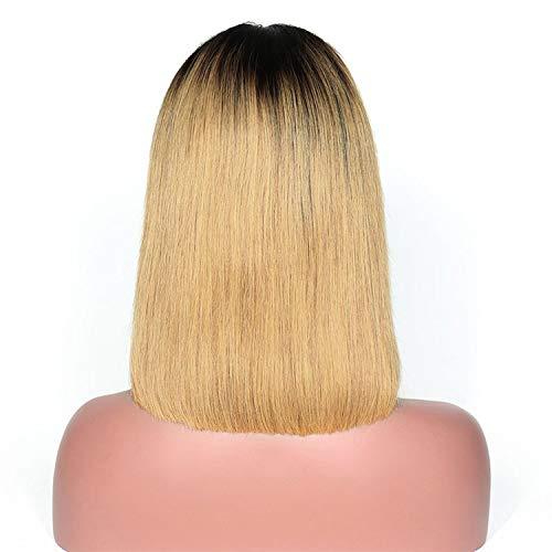 Kurz Menschliches Haar Bob-Perücken für Frauen brasilianische Spitze-Front-Menschenhaar-Perücken, T1B / 27,12inches, 130% (Sb Spiel H)