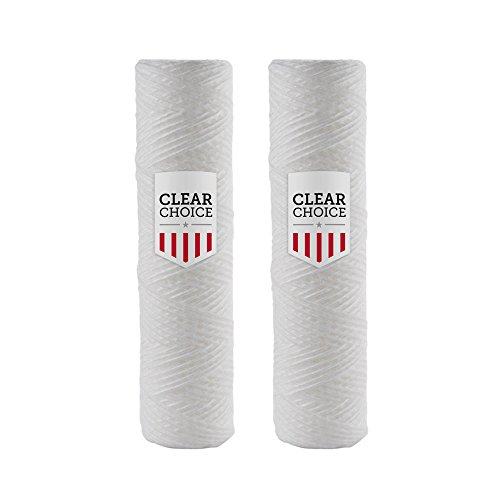 Clear Choice Sediment-Filterkartusche für Everpure DEV910908, Cuno CFS110, Pentair DEV910908, Pentek 155071-43 CW-5 CW-MF WP-5 WP5, Culligan P5 WP-5, 2-Pk