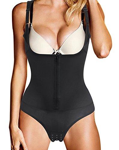 Ziyi donna body snellente aperto busto regolabile shapewear corsetto bustino shaper intimo modellante