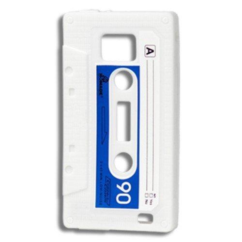 Sonstige Etui en silicone/couverture pour Samsung Galaxy S2 / Plus - CASSETTE cassette de musique étui de protection couverture arrière de bol 9100/i9105 bleu blanc cru