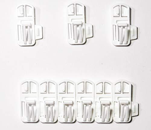 Speed Clix Gardinengleiter/Gardinenhaken mit Neuer einzigartiger Doppelklick-Funktion um schnell und einfach Gardinen auf zu hängen 100 Stück für Schienen mit Einer Nut von 3,5-4mm Made in Germany