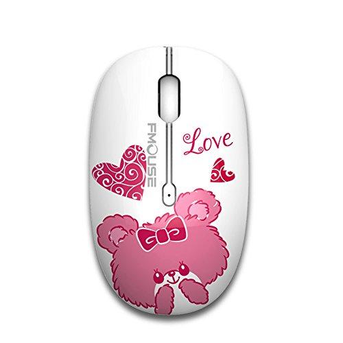 tenmos M101 Wireless Maus ,PC Kabellose Mouse Cute Silent Schnurlos Optische Travel Mäuse mit USB Receiver für Notebook/Laptop/Computer/MacBook, DPI 1600,3 Tasten