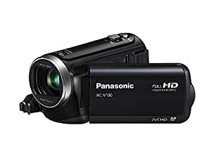 Panasonic V100 Full HD 1920 x 1080 Camcorder - Black (42x Intelligent Zoom, SD Card Recording, Power OIS, Face Recognition) 2.7 inch LCD