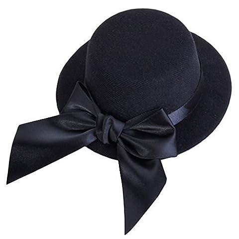 Ladies Mini Top Hat Fascinator Burlesque Millinery w/ Bowknot -