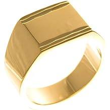 ad2cb05224622 ISADY - Fabulous Gold - Bague Mixte Homme Femme - Chevalière - Plaqué Or 750