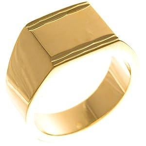 ISADY – Fabulous Gold – Herren Ring Damen Ring Siegelring – 18 Karat (750) Gelbgold