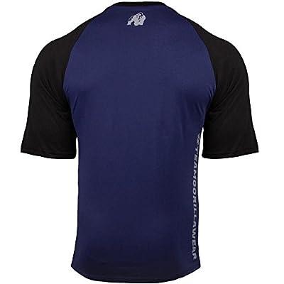 Gorilla Wear Texas T-Shirt - navy/black - navy/schwarz- Bodybuilding und Fitness Bekleidung Herren