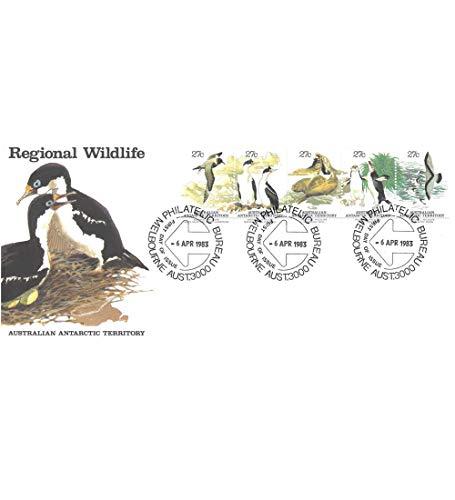 Goldhahn Australische Gebiete in der Antartis Nr. 55-59 FDC Ersttagsbrief Tiere Briefmarken für Sammler -