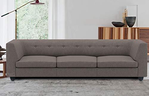 Spaces Therapy Flamingo Fabric 3 Seater Sofa Set (Grey)