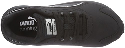 Puma  Descendant V3 Sl, Chaussures de Running Compétition mixte adulte Noir (Black/Black/Silver)