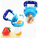 Baby Shopiieee Fresh Food Nibbler Silicone Baby Infant Fruit Feeder Dummy Pacifier Newborn Nipple (Multicolour)