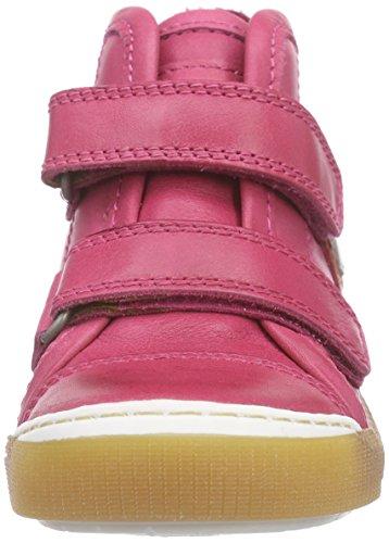Bisgaard Velcro shoes, Baskets hautes mixte enfant Rose (14)