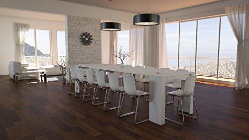 Legno Bianco Frassinato : Tavolo legno moderno allungabile consolle bianco frassinato