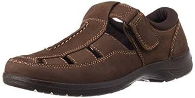 Bata Men's Fisher Man Luca Brown Leather Athletic & Outdoor Sandals - 11 UK/India (45 EU) (8544676)