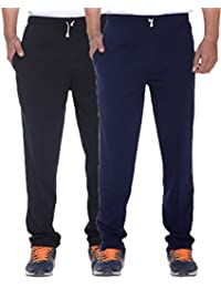 ELK Mens's Cotton Track Pant Trouser With Side Pockets Clothing 2 Color Set Combo