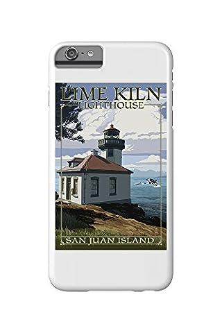 San Juan Island, Washington - Lime Kiln Lighthouse Day Scene (iPhone 6 Plus Cell Phone Case, Slim Barely There)