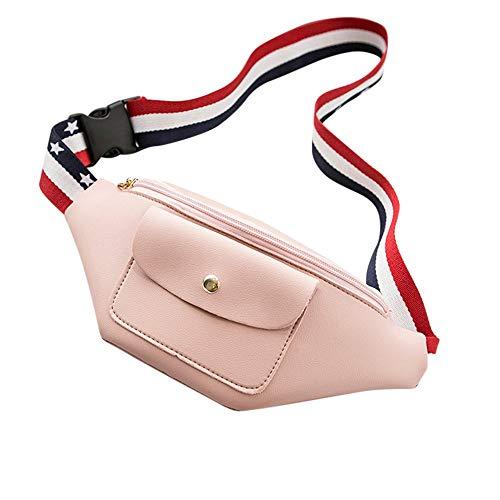 KFYOUXIN Marsupio in Pelle Marsupio Impermeabile Borsa a Marsupio Confezione telefonica Borsa a Tracolla con Cerniera Cintura Regolabile Borsa da Viaggio Marsupio Funky Custodia Marsupio Pink