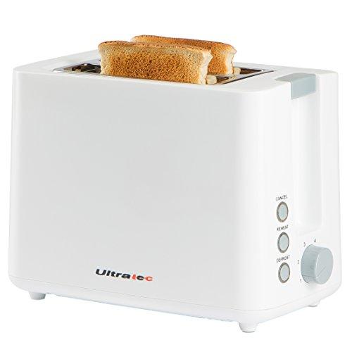 Ultratec Toaster mit zwei Toastkammern, weiß, ca. 22,5 x 18 x 13,8 cm (Basic-toaster)