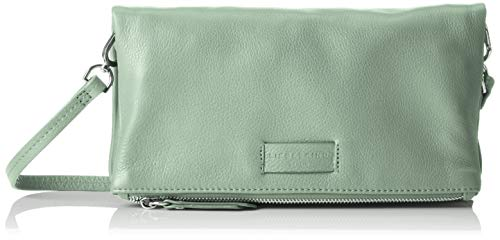 Liebeskind Berlin Damen Essential Aloe Crossbody Small Umhängetasche, Grün (Hedge Green), 3x16x29 cm