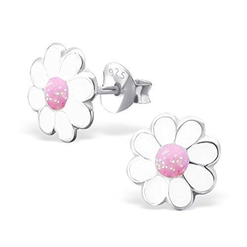 laimons-kinder-ohrstecker-blume-ganseblume-pink-glitzer-sterling-silber-925