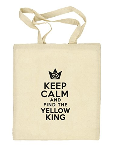 TD - Keep Calm And Find The Yellow King, Natur Stoffbeutel Jute Tasche (ONE SIZE) Natur