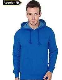 Men's Hooded Sweatshirt-360 (Royal Blue Colour)