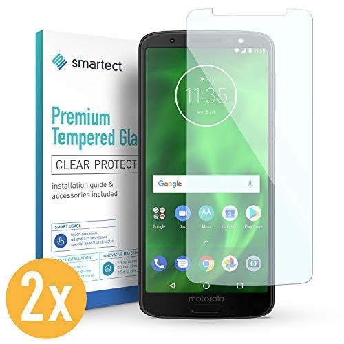 smartect 2X Protector de Pantalla de Cristal Templado para Motorola Moto G6 Lámina Protectora Ultrafina de 0,3mm | Vidrio Robusto con Dureza 9H y Antihuellas Dactilares