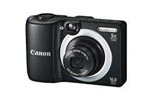 Canon PowerShot A1400 Digital Camera - Black (16 MP, 28mm Wide Angle, 5x Optical Zoom) 2.7 inch LCD