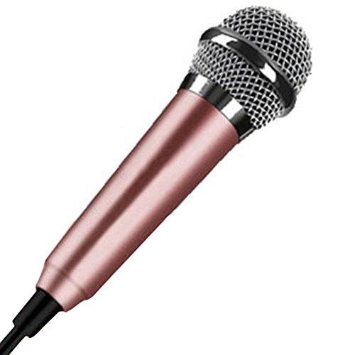 Mini 3,5mm Kondensator Mikrofon für Handy Computer Karaoke Handheld Kleine Recorder für Handy Wired Karaoke, gold