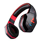 Boat Rockerz 510 Extra Bass Over the Ear Bluetooth Headphones, Red & Black