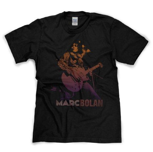 Marc Bolan Tribute Classic Rock Musik Legends Retro-T-Shirt Schwarz