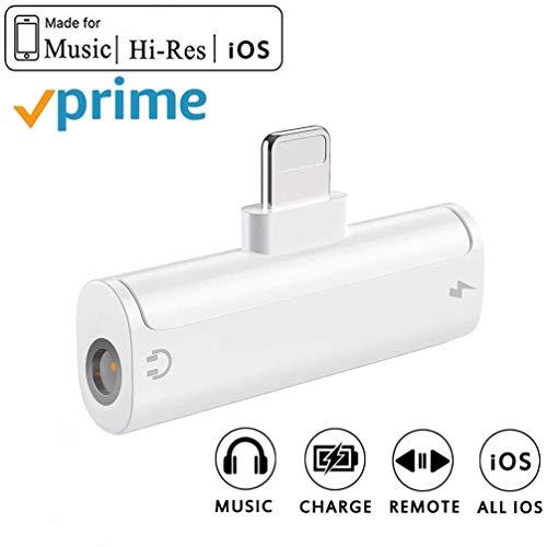 Kopfhörer Adapter für iPhone 8 Kopfhörer 3.5mm AUX Audio Adapter Splitter für iPhone 7 / 7Plus / 8 / 8Plus / X/XS max Musik & Ladung Dongle Headset Kabel Konverter Zubehör Unterstützung Alle iOS - Kopfhörer-headset-adapter-konverter