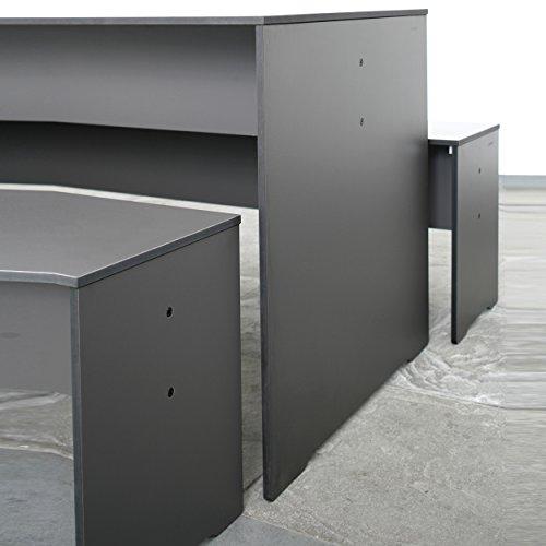 Riva Bank 216 cm ohne Lehne – anthrazit - 3