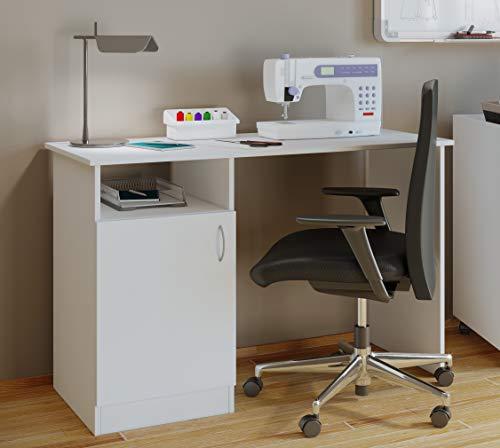 VCM Nähmaschinentisch Nähschrank Nähtischchen Sekretär Schreibtisch Nesas Weiß (Schrank Im Nähmaschinen)