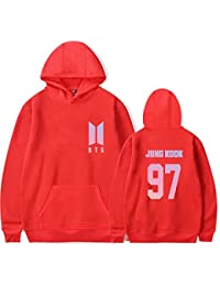 SERAPHY BTS Hoodie Biseles Hombre con Sudadera con capucha Fleece Bangtan Boys Pullover Suga Jin Jimin Jung Kook J-Hope Rap-Monster V riHnFOy