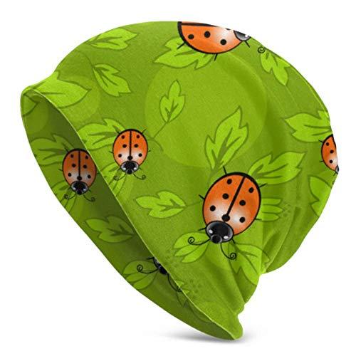 Reghhi berretti per uomo donna -calda, motivo coccinella modello colorato foglie di coccinella berretto di lana riccio copricapo duro , elastico morbido