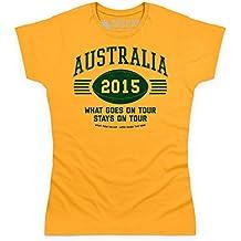 Australia Tour 2015 Rugby Camiseta, Para mujer