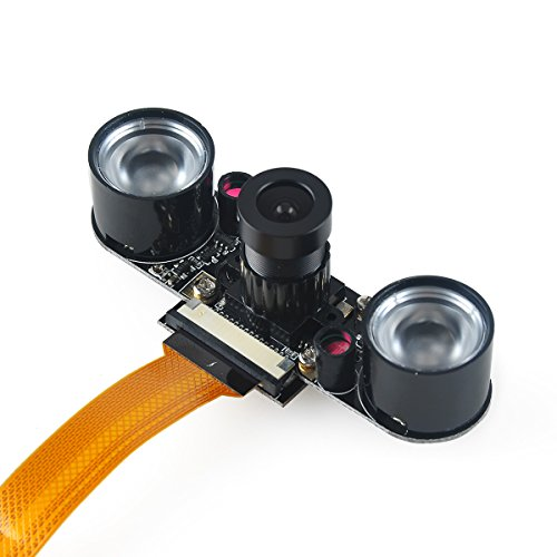 MakerHawk Raspberry Pi Zero W Camera Night Vision Webcam 2 Infrared IR LED Light for Raspberry Pi Zero W